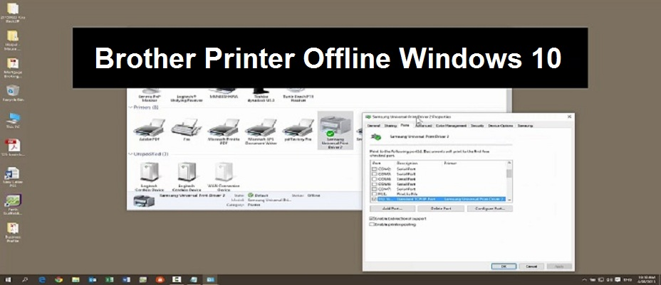 How to Fix Brother Printer Offline Error State on Windows 10