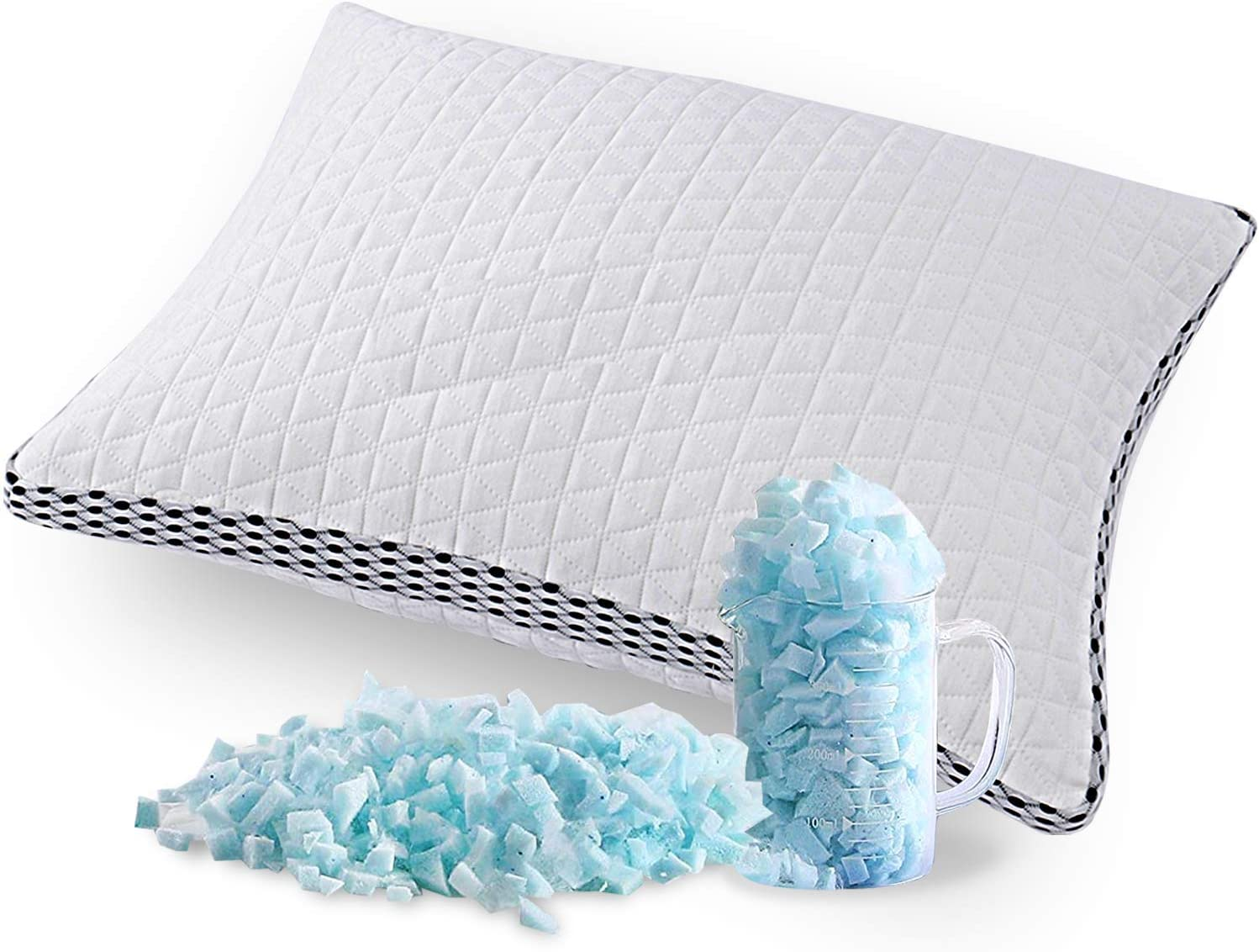 The Queen Size Bamboo Cooling Pillow provides excellent Neck and Shoulder Support